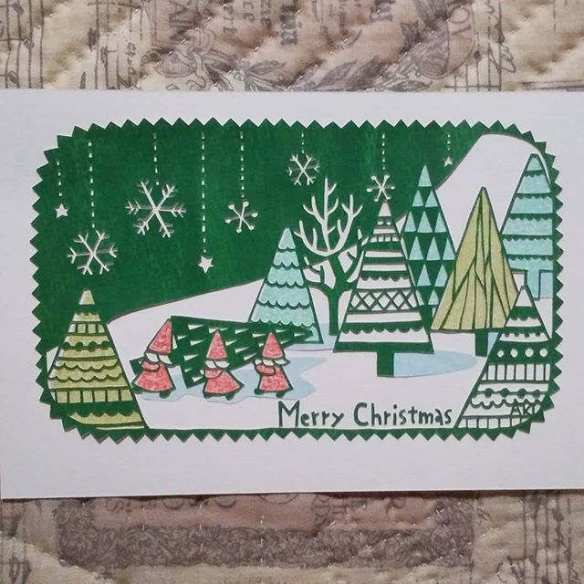 「クリスマス」 10×14.8cm