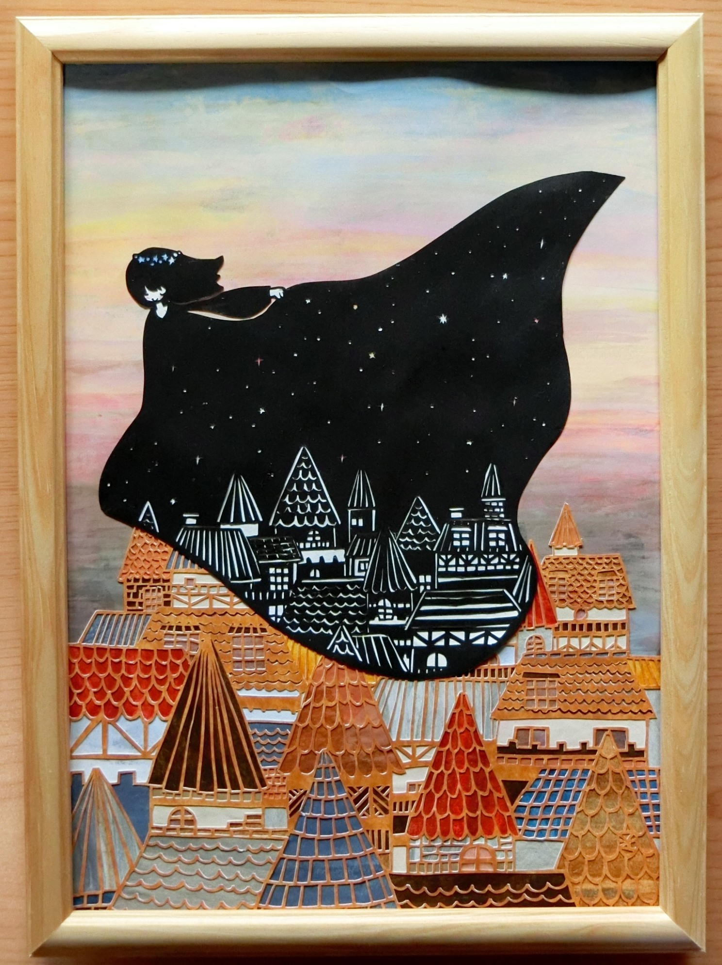 「Messenger of night」 23cm x 31.7cm