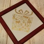 「クリスマスプレゼント」 21cm×21cm