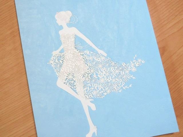「Flower dress」 21cm x 29.7cm (A4)