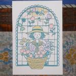 「お花屋さん」 10×14.8cm