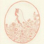 切り絵 June bride