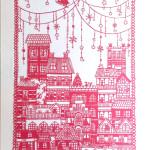 切り絵 街のクリスマス
